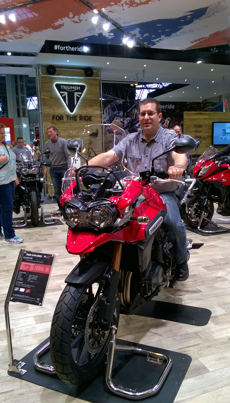 Sitting on a Bike at Motorcycle Live