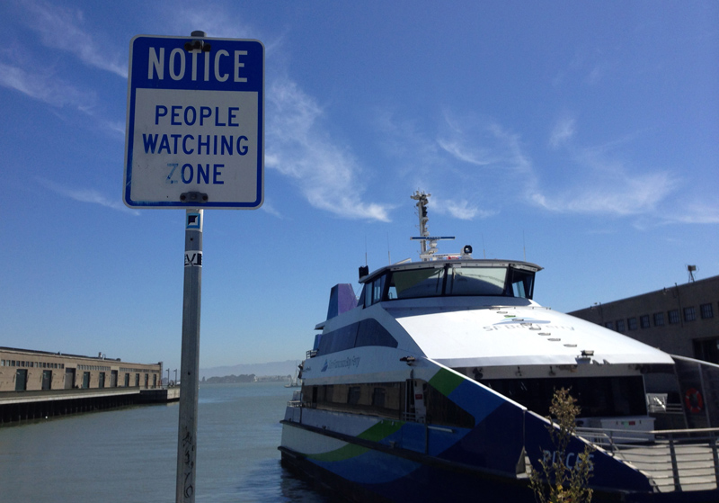 """People Watching Zone"" - genuine notice in San Francisco"