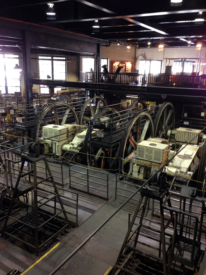 Inside the San Francisco Cable Car Centre