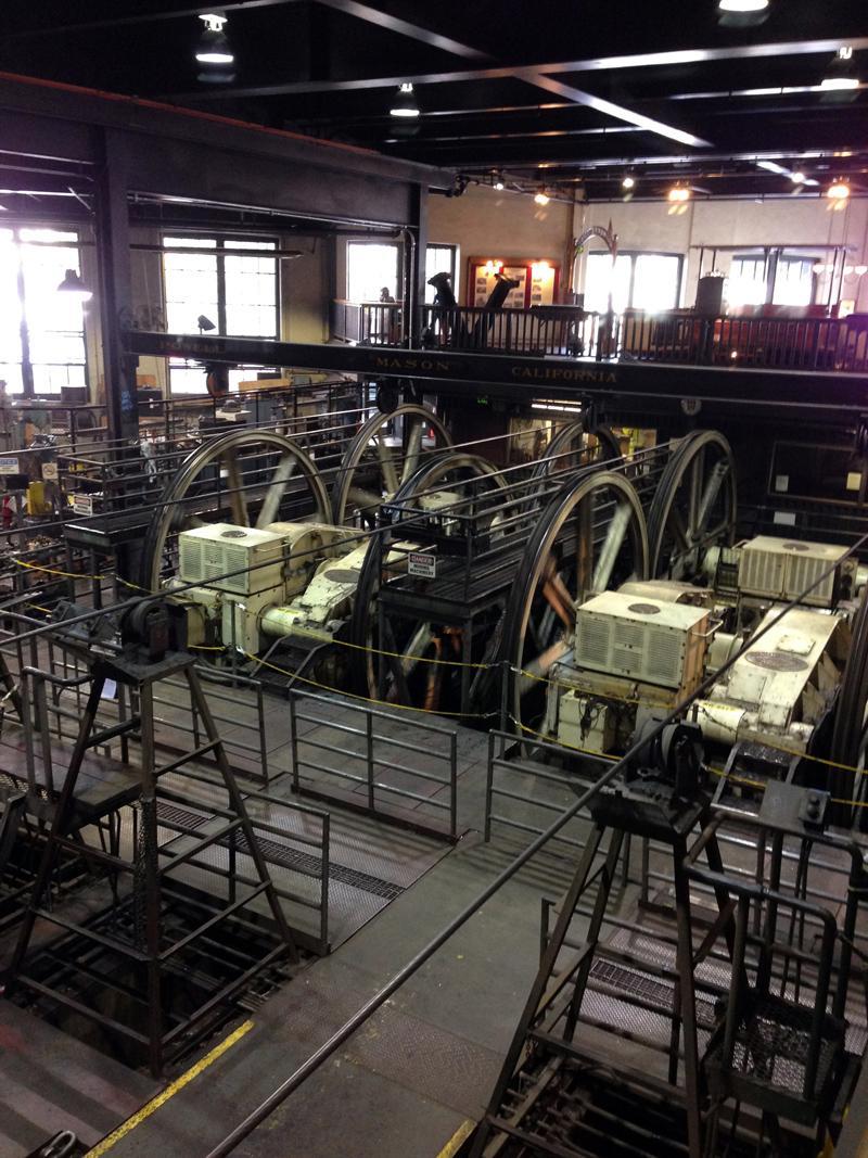 Inside the San Francisco Cable Car Centre