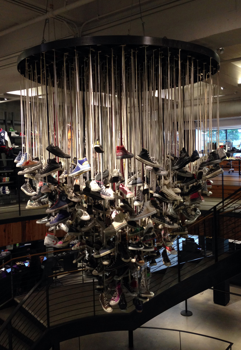 Converse in the San Francisco Converse Shop