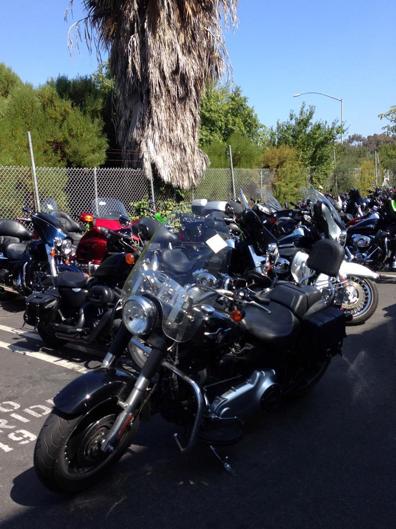 My bike back at Eaglerider, LA