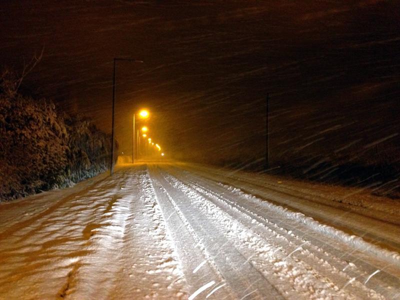 Snow at Harmston, Lincolnshire