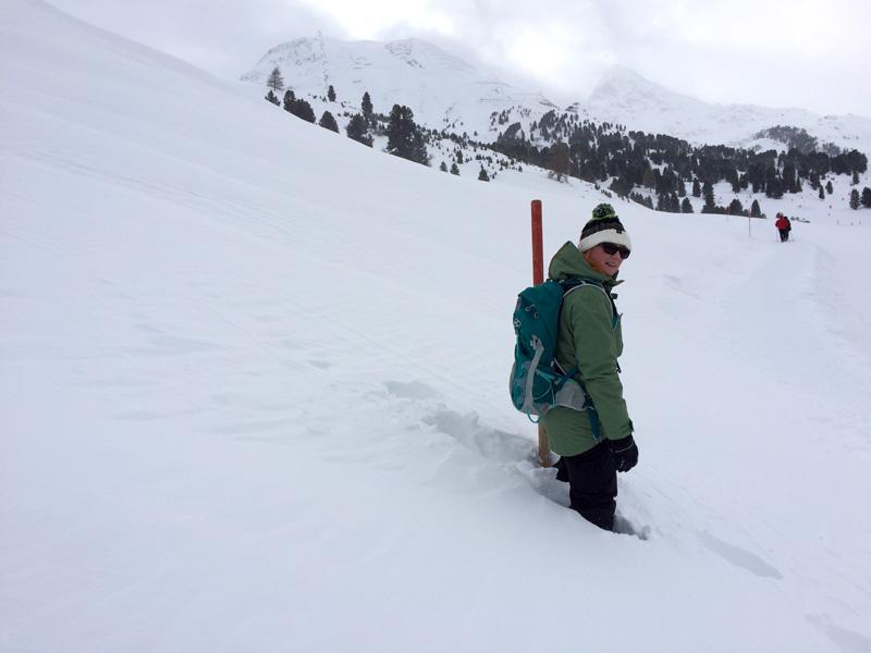 Winter Hike in Obergurgl - Me Breaking Trail
