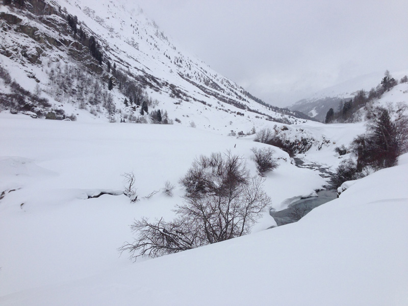 Winter Hike in Obergurgl - River
