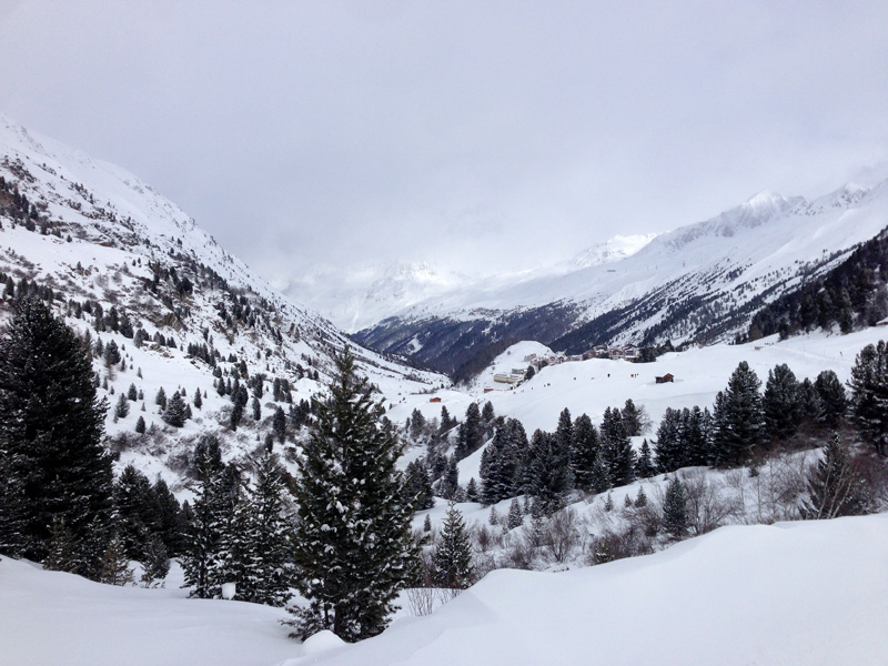 View from Obergurgl in the Austrian Alps
