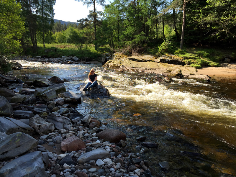 Scotland by Motorbike - Sat by the River