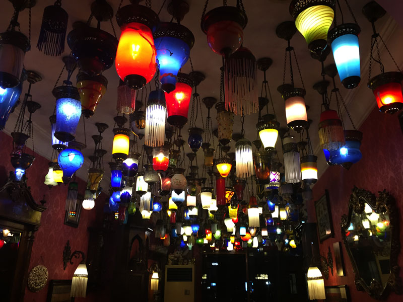 TopDeck Turkey Diary - Lamps in Restaurant