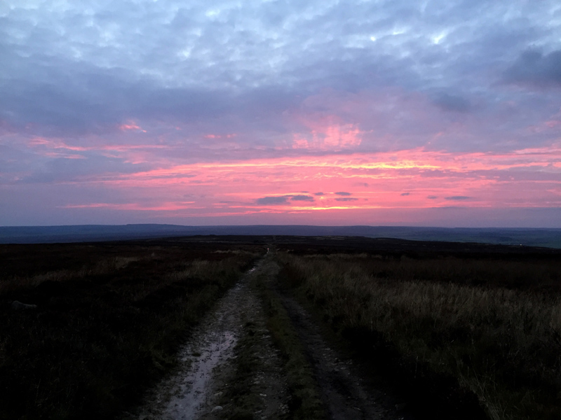 Lyke Wake Walk - Pink Sunset