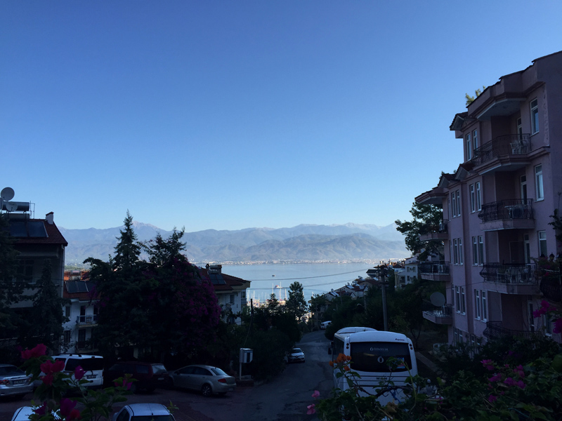TopDeck Turkey Diary - View from Fethiye Hotel