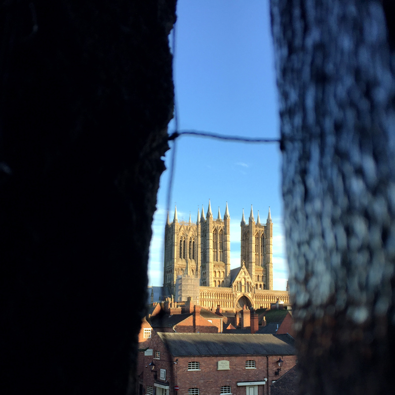 Lincoln Cathedral from Lincoln Castle Cobb Hall