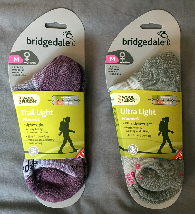 Bridgedale Trail Light and Ultra Light Socks