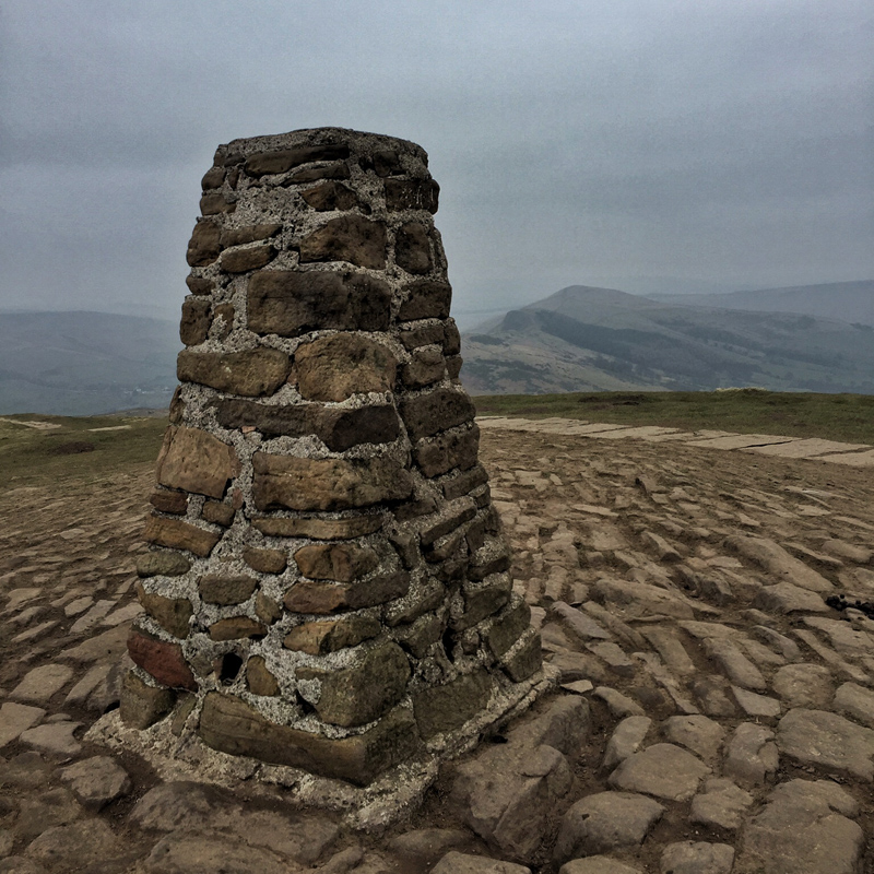 Mam Tor, Castleton, Derbyshire - Trig Point - Splodz Blogz