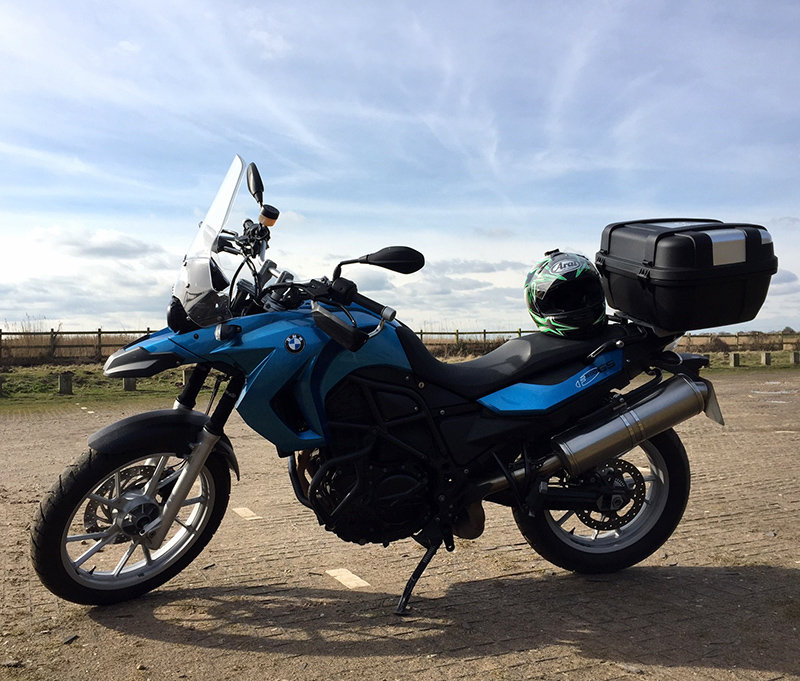 My BMW F650GS and new Givi Trekker Topcase