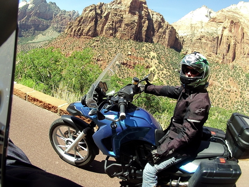 Zartusacan - Zion National Park - Zoe F650GS