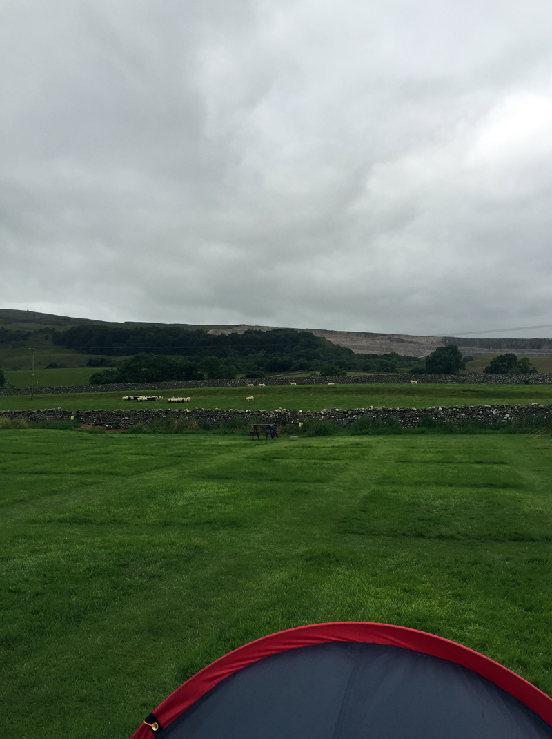 Camping at Holme Farm Campsite, Horton in Ribblesdale