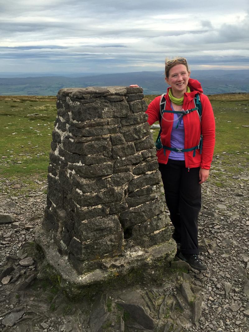 Last peak done! At the Ingleborough summit.