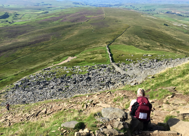 Hiking up Pen y Ghent, Yorkshire