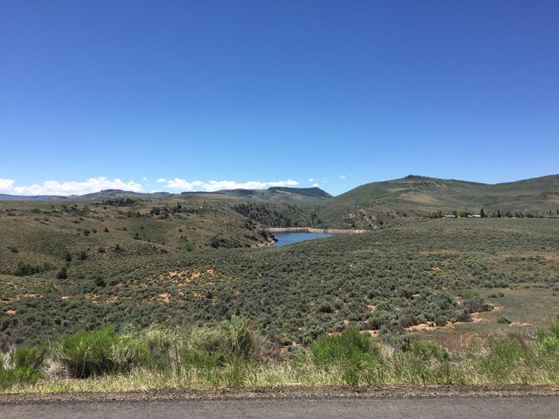 Bright blue mountain lakes in Colorado