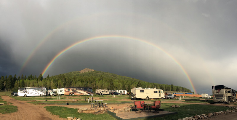 Double Rainbow over KOA Cripple Creek, Colorado