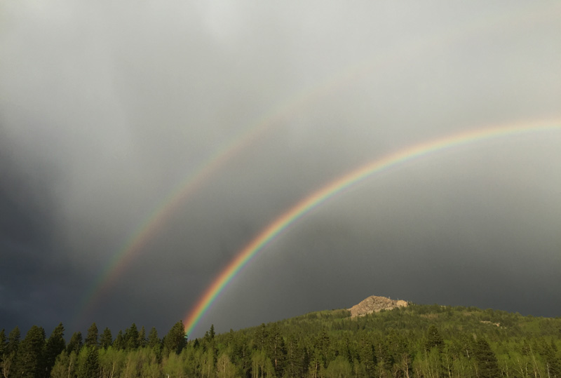 Double Rainbow over KOA Cripple Creek, Colorado