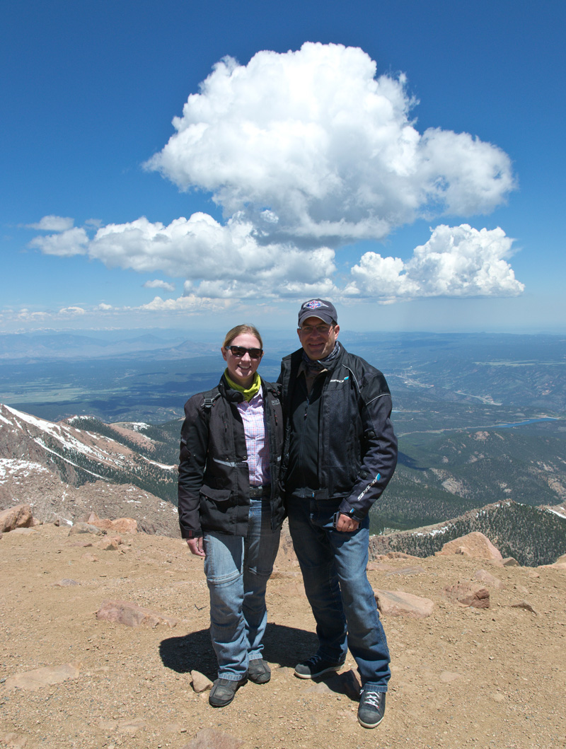 From the summit of Pike's Peak