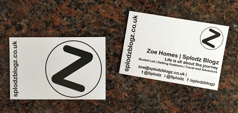Splodz Blogz Business Card from Colour Graphics