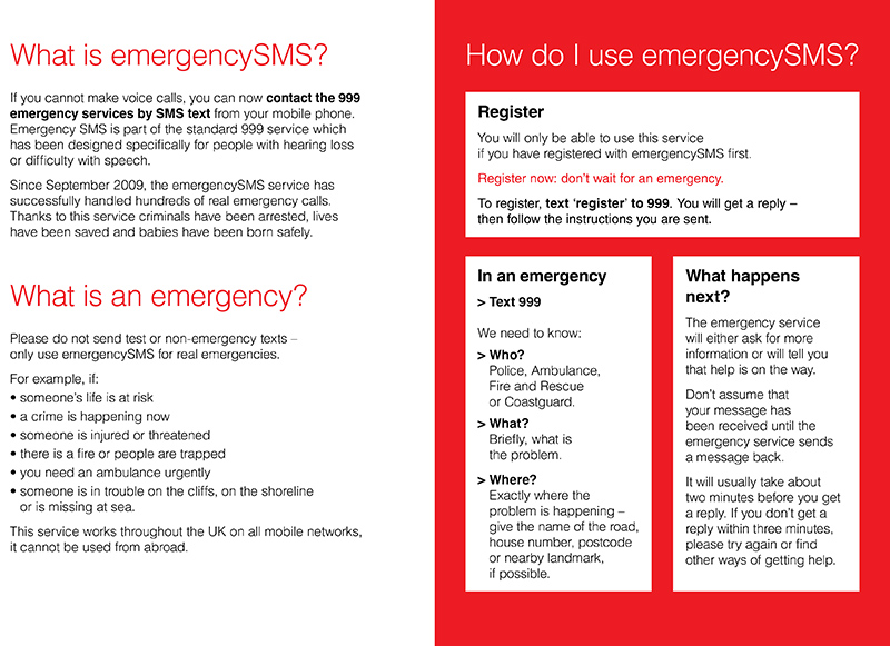 Emergency SMS Information