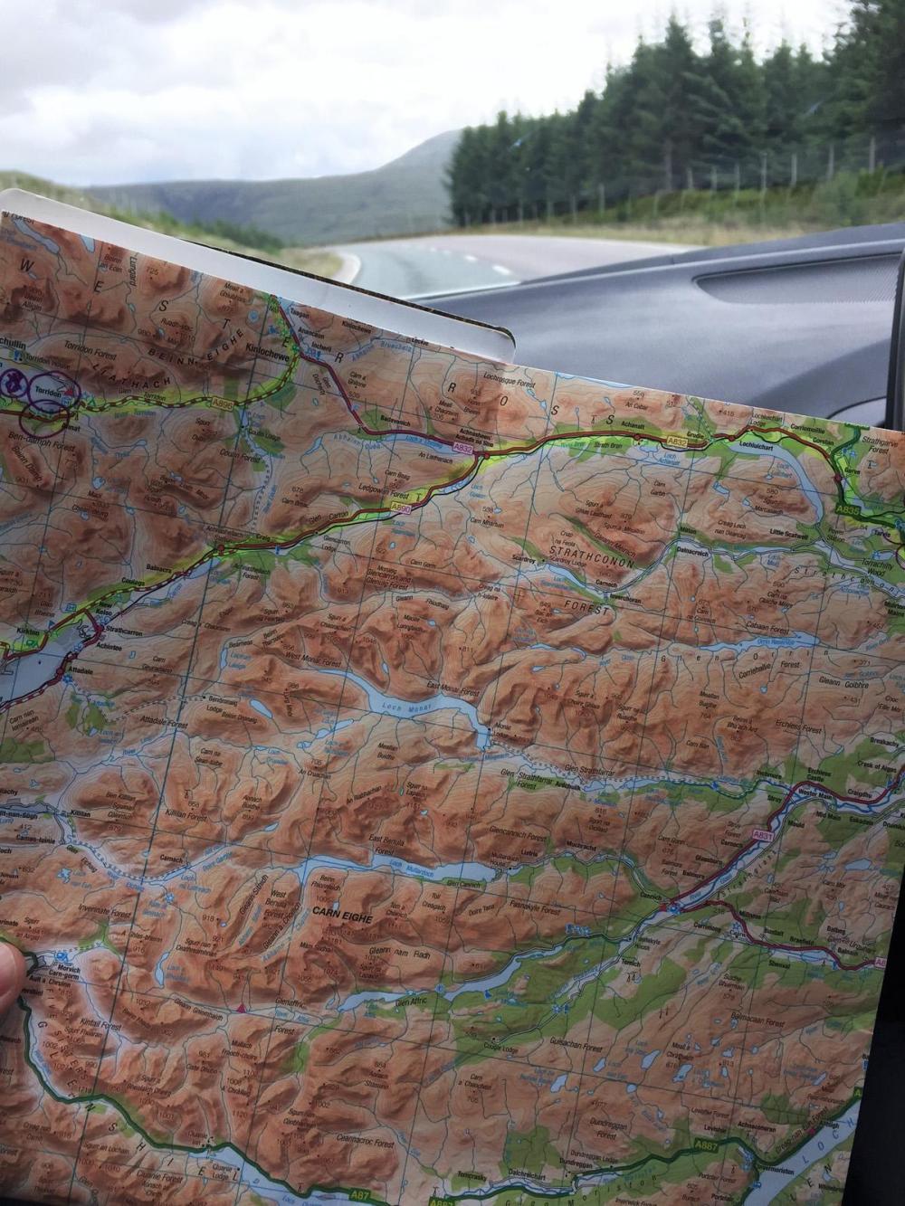 Splodz Blogz   NC500   Map Reading OSMaps