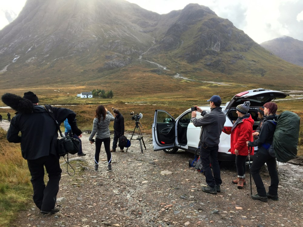 Splodz Blogz   West Highland Way - ITV Film Crew