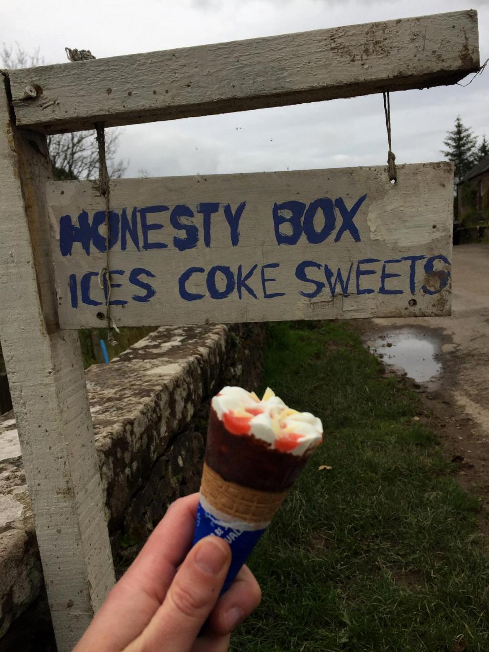 Splodz Blogz | Honesty Box at Gartness