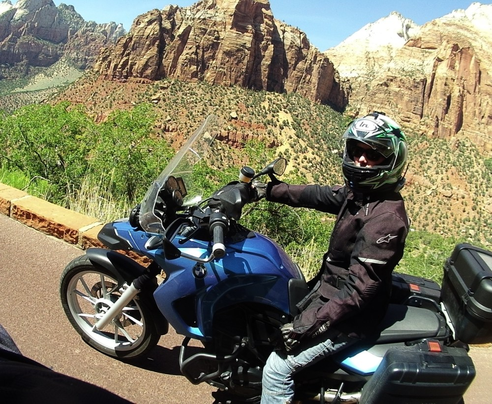 Splodz Blogz | On my F650GS in Zion National Park