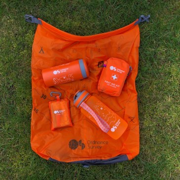 ON BRAND WITH ORANGE DAY HIKE GEAR FROM ORDNANCE SURVEY