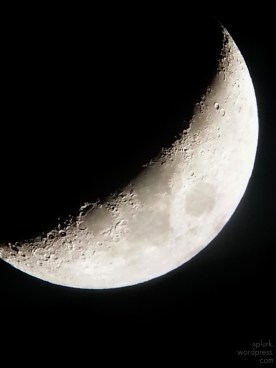 Moon taken using the telescope