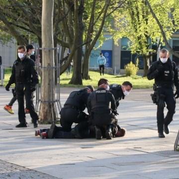 Festnahme in Chemnitz. 4 Straftaten wurden erfasst.