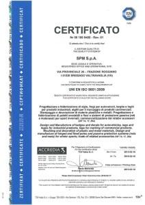 сертификат оборудования EN ISO 9001
