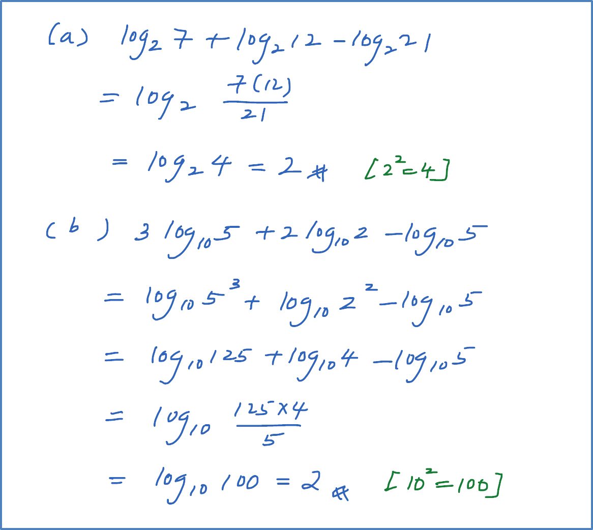 5 2 1 B Example 2 Laws Of Logarithms