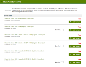 DreamSpark SharePoint 2013 Angebot