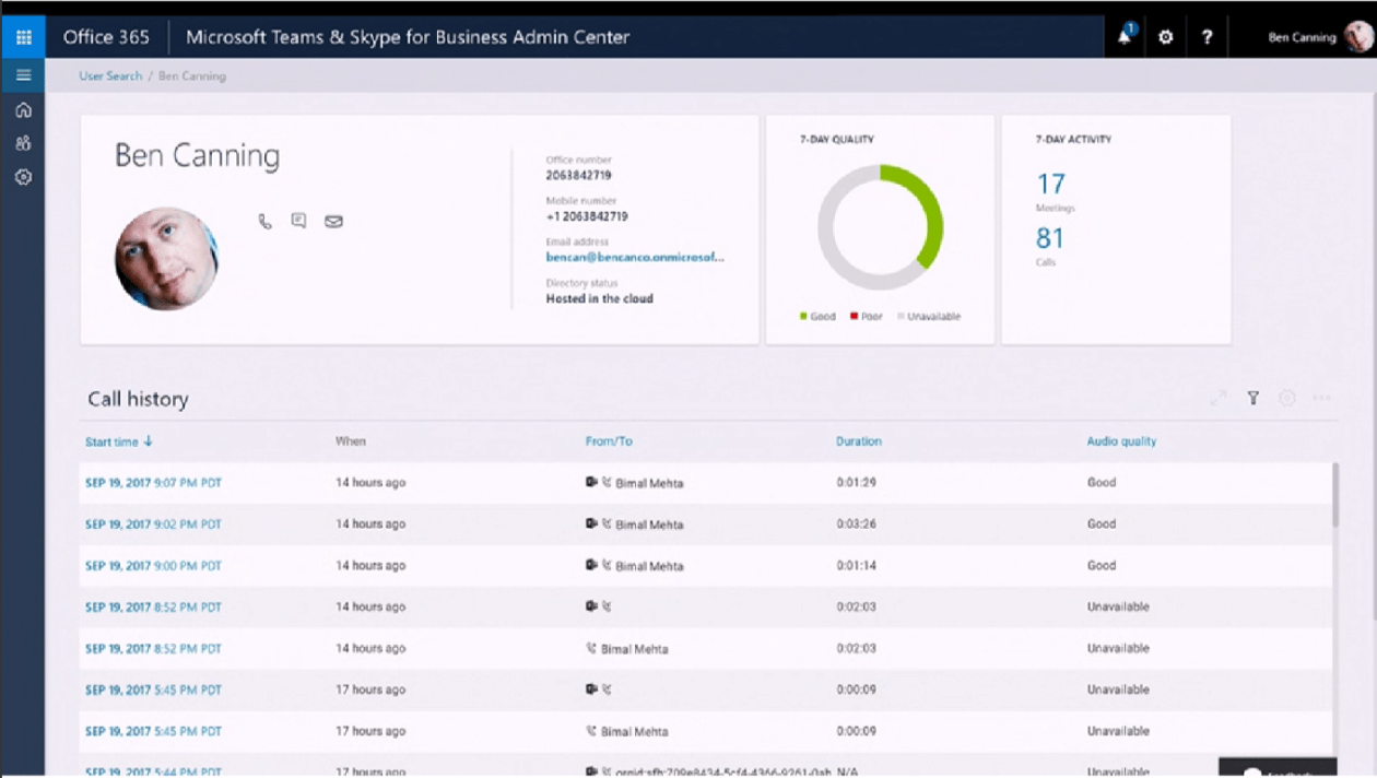 Microsoft Teams & Skype for Business Admin Center