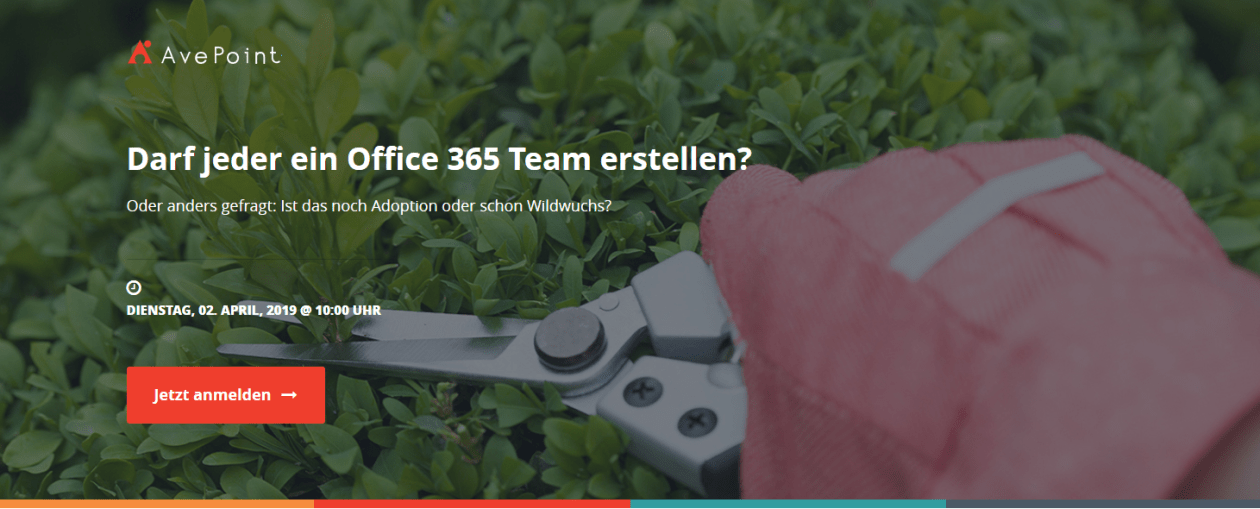 Webinar zum Thema Teams Governance und Adoption
