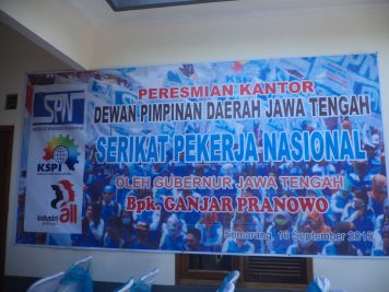 Foto Peresmian Kantor DPD SPN Jateng