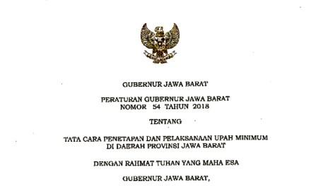 SPN PROVINSI JAWA BARAT MENOLAK PERGUB NO 54/2018