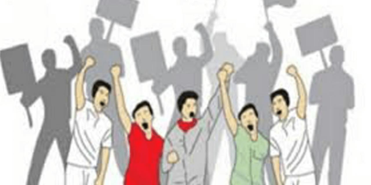 BELUM DAPAT PESANGON DAN THR, 250 BURUH PT SATRINDO TAMA MAKMUR UNJUK RASA