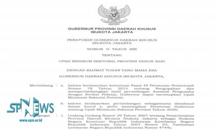 UMSP DKI JAKARTA 2020 TELAH DISAHKAN