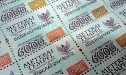 2021, HARGA MATERAI NAIK JADI RP 10.000