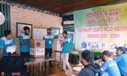 DENI SUPARDI TERPILIH SEBAGAI KETUA PSP SPN PT COATS REJO INDONESIA PERIODE 2021 – 2024