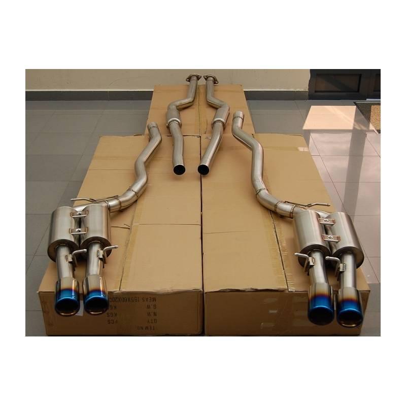 exhaust line output duplex stainless titanium bmw m6 e63