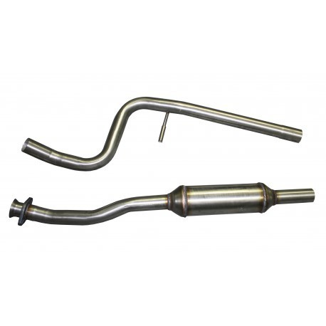 Intermediate tube with silencer INOXCAR for Citroen C2 VTS