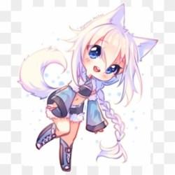 wolf chibi anime kawaii easy transparent