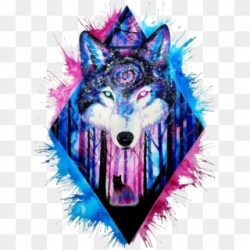 Wolf Clipart Galaxy Galaxy Wolf Art HD Png Download 1024x1387 #1031829 PngFind